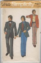 Image of Pattern - Simplicity, Teen-Boy's and Men's Unlined Jacket and Wide Leg Pants, No. 576