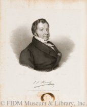 Image of Lithograph - Portrait of Johann Nepomuk Hummel