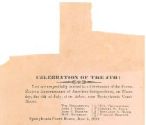 Image of Announcement 4th of July Celebration 1833