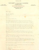 Image of Business Letter Noury & van der Lande