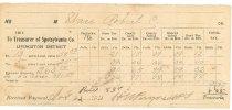 Image of Tax receipt Spotsylvania, Va