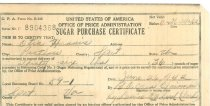 Image of Sugar Purchase Certificate 1942