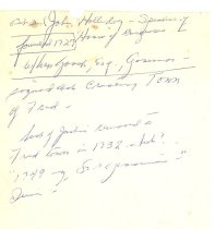 Image of Handwritten notes - Holladay file