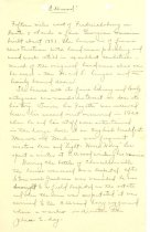 Image of Handwritten History of Ellwood