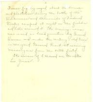 Image of Handwritten History of Ellwood page 2