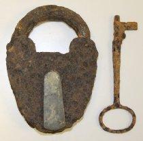 Image of 2011.063.002 - Lock, Key