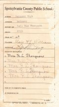 Image of Report Card, Lulu Mae Thompson
