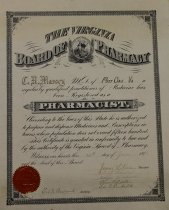 Image of Pharmacist Degree, C. R. Massey, Circa 1898