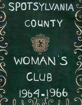 Image of Album, Spotsylvania County Woman's Club, 1964-1966