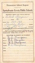 Image of Report Card, Robert Thompson