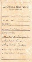Image of Report Card, Arnitt Thompson