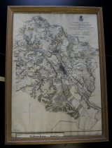 "Image of Map, Union-Confed ""Battle Lines"" Fredericksburg, Mimeo, 1867"