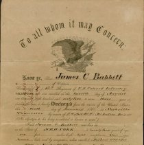 Image of Military Discharge James C. Babbitt