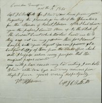 Image of letter from Capt. Babbitt