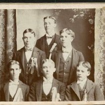 Image of Larned Boys Attending Salina Business College in the Late 90's - Late 1890s