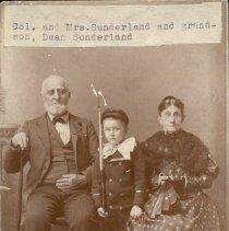 Image of Col. and Mrs. Sunderland and grandson, Dean Sunderland