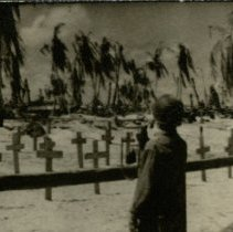 Image of Grave Markers on the Atoll of Tarawa