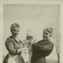 Image of Lee or Jack Reed with Grandmothers, Nora Reed and Mrs. Krieger