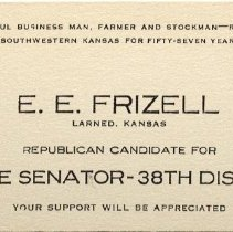 Image of Business Card - E.E. Frizell