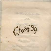 Image of Invitation-Larned High School-Class of 1899