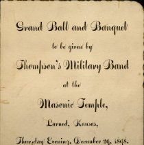 Image of Invitation-Grand Ball and Banquet