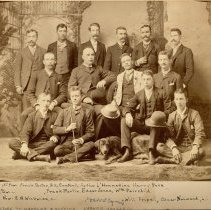 Image of Studio Portrait of a Group of Men -