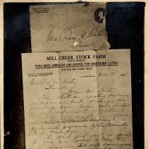 Image of Letter - John R. Basiger to Rosa A. Katar - 06/25/1908