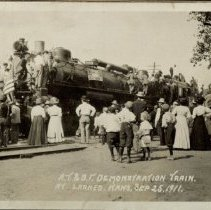 Image of Demonstration Train AT & SF, Larned, KS