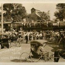 Image of A.T.& S. F. Demonstration Train, Larned, Kan. Sept. 26, 1911. - 09/26/1911