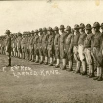 Image of WWI - Co F 2nd Reg  Larned, Kansas