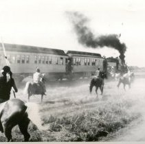 Image of Fort Larned Centennial - Mock Indian Raid - 6/1959