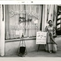 Image of Selling Homemade Soap - Fort Larned Centennial - 06/1959