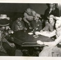 Image of Early Group Getting Ready for Poker -