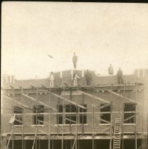 Image of Edwards Building under Construction, Broadway, Larned.