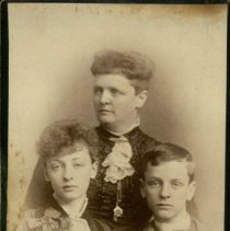 Image of Delia K. Holston with Children, D. Jessamine and Harry. -