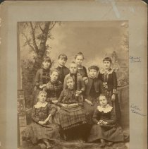 Image of Group of Girls with Estelle Vernon and Edna Rush  -