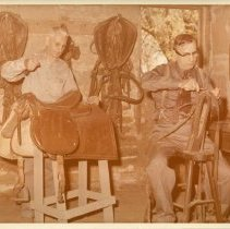 Image of Preparing Saddle and Harness - Dr. Bill Spomer and Elmer Newacheck