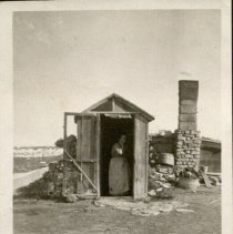 Image of Entrance to Sod House or Dugout -