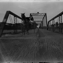 Image of 139. Buggy On Larned West Side Bridge Over The Arkansas River