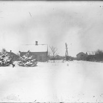 Image of 004. Hartman Farm Houses And Out Buildings In Ice Storm