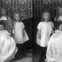 Image of 064. Ethyl, Edna, & Mildred In Chair, Edna, Ethyl & Mildred In Chair 1911