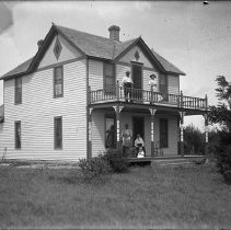 Image of 076. Hartman House With Amon Hartman Above Left