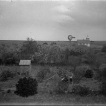 Image of 077. Valley View Church, Hartman Outhouse And Orchard In Foreground
