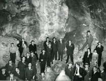 Image of PC007.001 Men and women in Lewis and Clark Caverns