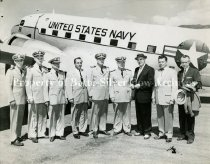 Image of OC016, FF 3, Photo 1 U. S. Navy aircraft with men in uniform