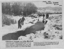 Image of Newspaper clipping Blacktail Creek 1970