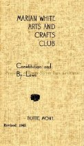 Image of Marian White Arts and Crafts Club Constitution and By-Laws, Revised 1945