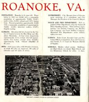 Image of Roanoke Virginia Chamber of Commerce brochure, pages 2 & 3
