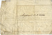 Image of Letter to Captain R. F. Watts, back