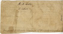 Image of Letter from H. Rider to Ruben F. Watts, back